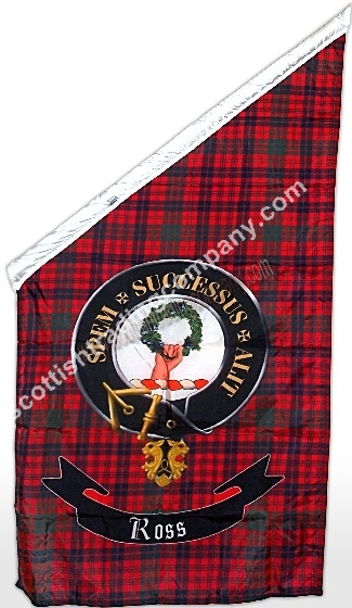 Tartan and Clan Badge Angled Banner