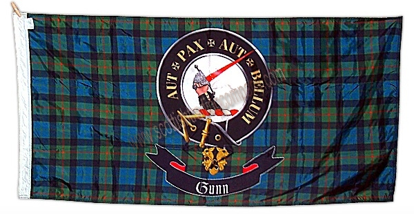 Tartan Flag With Clan badge