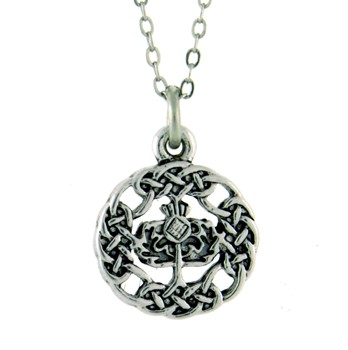 Celtic Scottish Thistle Necklace