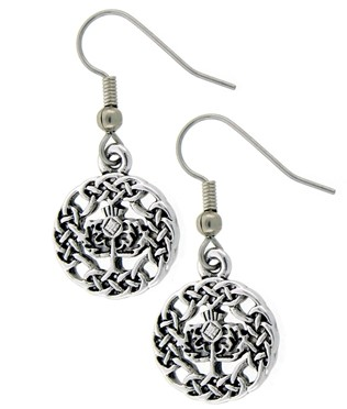 Celtic Scottish Thistle Earrings