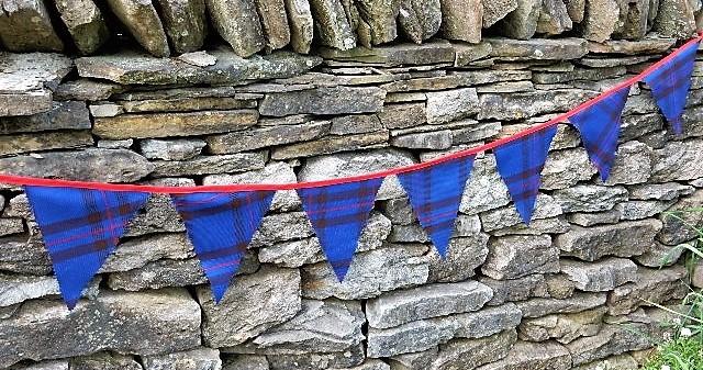 Scottish Tartan Bunting Flags 11oz Reiver - Click Image to Close