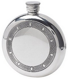 Celtic Frame Round Flask