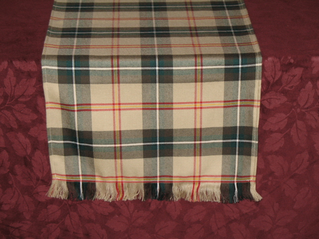 Tartan Table Runner Strome Weight
