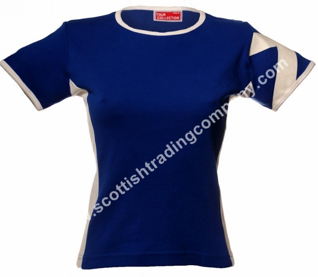 Women's Scottish Saltire Sleeve T-Shirt