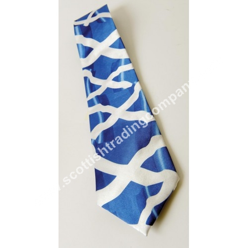 Billowing Saltire Scottish Tie