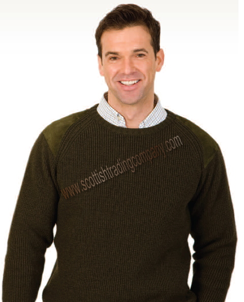Men's Merino Heavy Weight Shoulder Patch Sweater