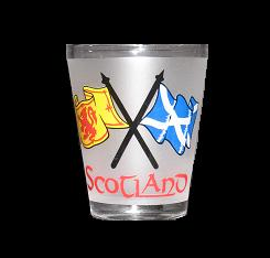 Scottish Flag Shot Glass
