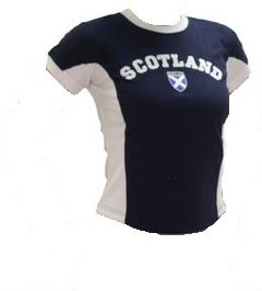 Womens Scotland Shirt in Dark Blue