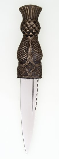 Thistle Top Sgian Dubh Bronze Finish