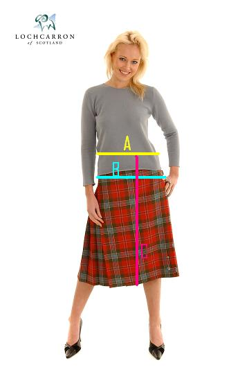 Ladies Kilt and Skirt Measurements