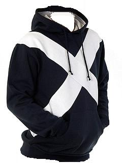 St. Andrews Cross Hooded Sweat Shirt in Navy Blue