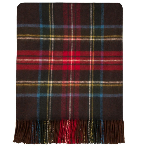 Stewart Brown Antique Tartan Lambswool Blanket