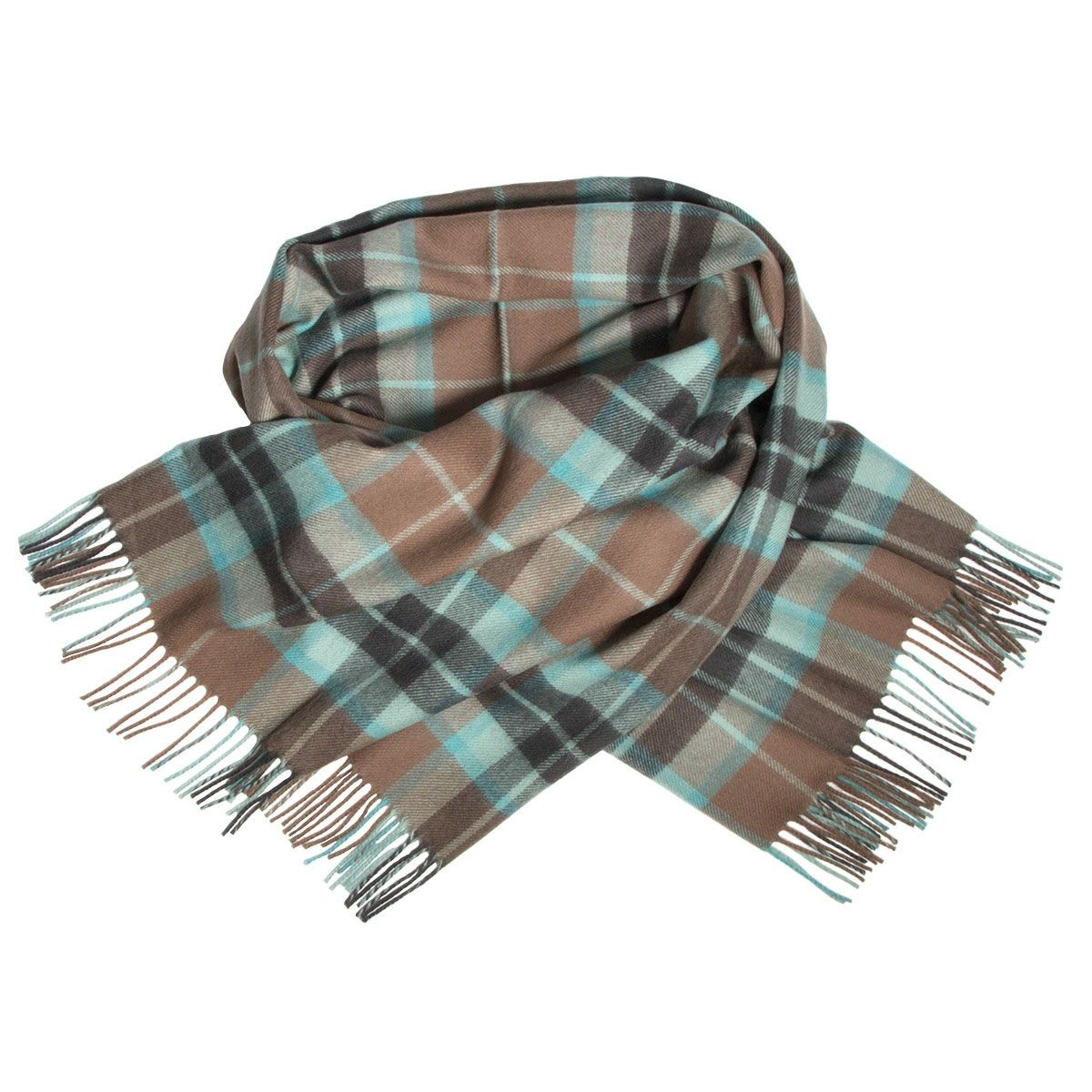 Thompson Brown Hunting Weathered Tartan Lambswool Stole