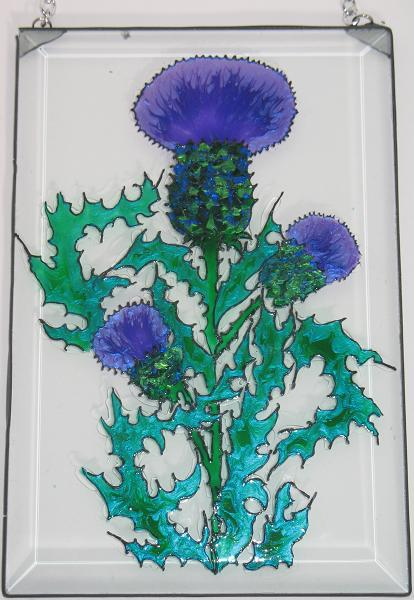 Scottish Thistles Sun Catcher