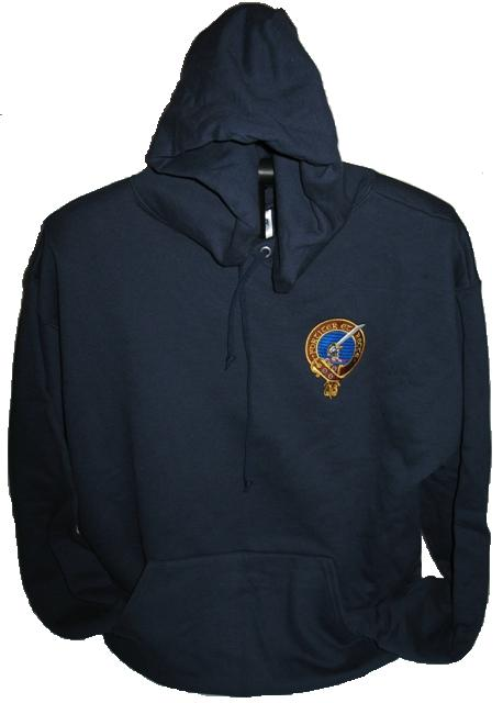 Embroidered Clan Badge Hooded Sweatshirt