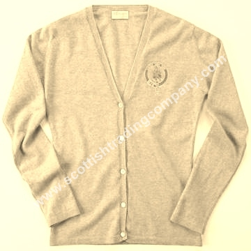 Scottish Clan Embroidered Cardigan Sweater