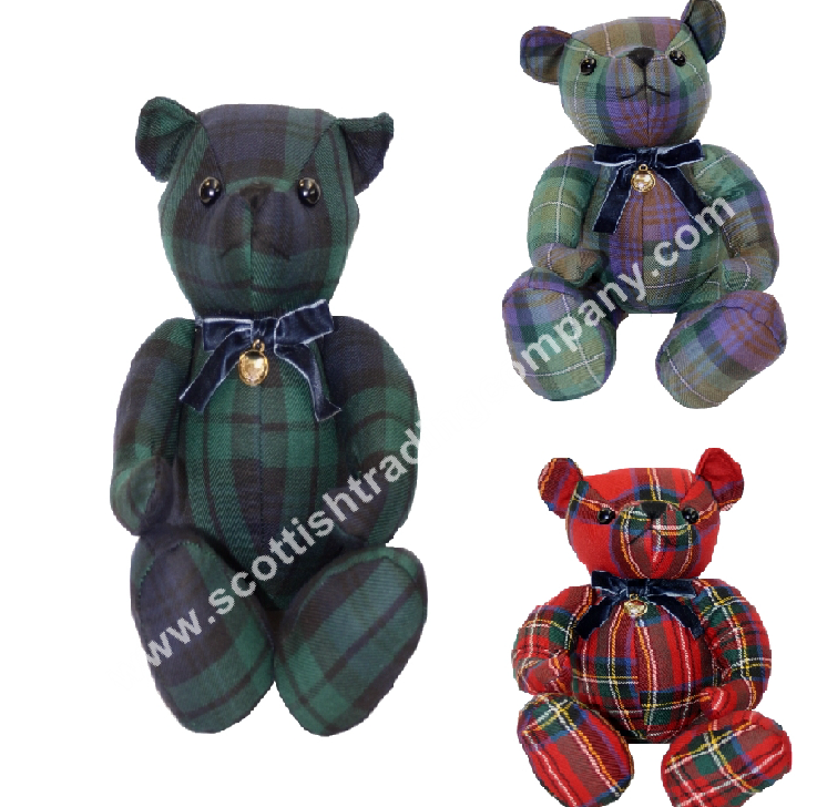 Scottish Tartan Teddy Bear Large