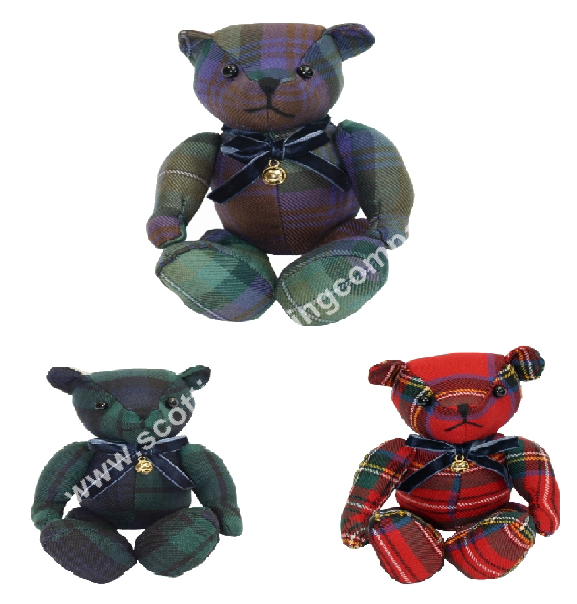 Scottish Tartan Teddy Bear Small