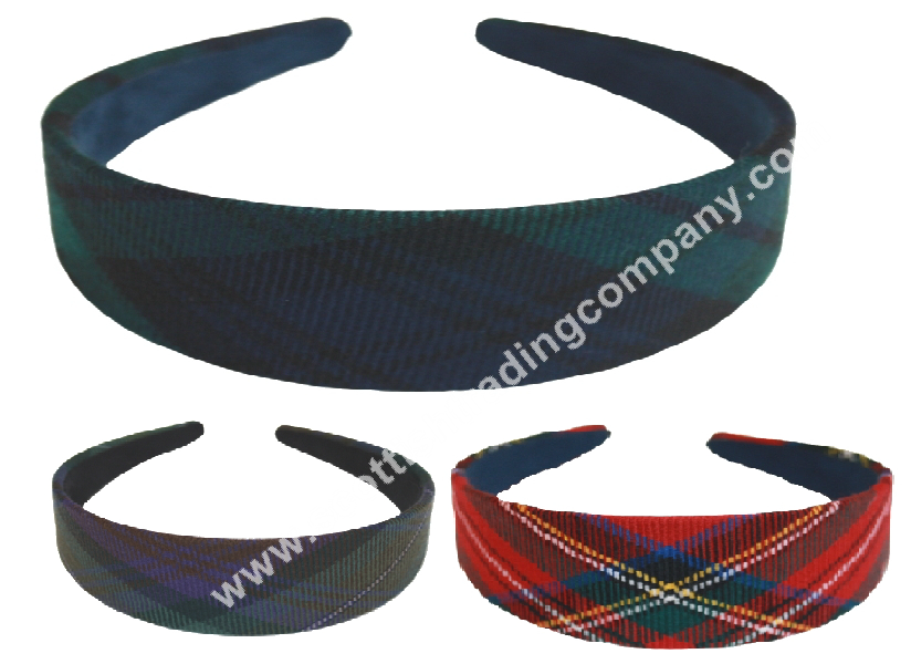 Tartan Wide Head Band