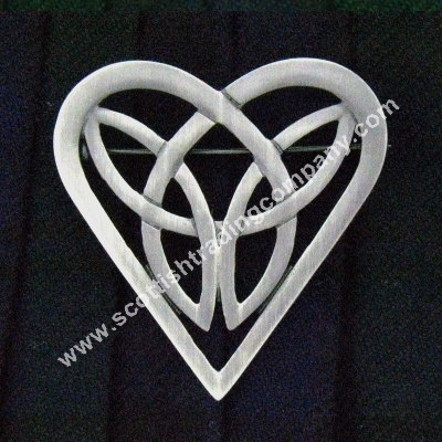 Celtic Trinity Heart Love Brooch