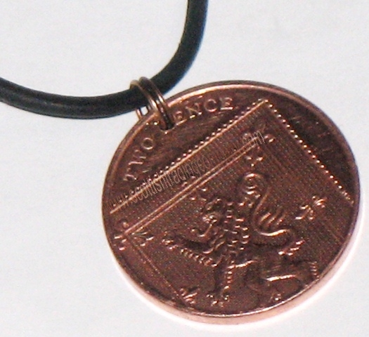 Scottish Two Pence Coin Pendant