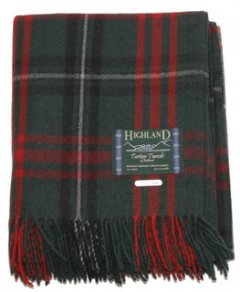 Welsh Tartan Large Blanket