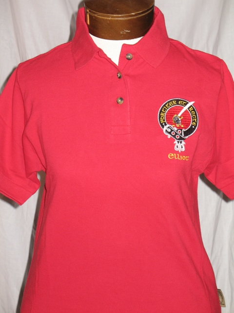 Embroidered Clan Badge Womens Polo Shirt