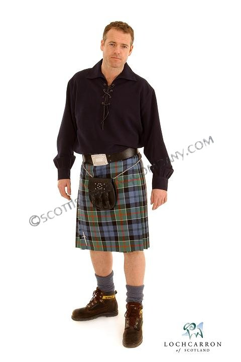 8 yard 11oz Reiver Kilt in Scottish Tartans By Lochcarron - Click Image to Close
