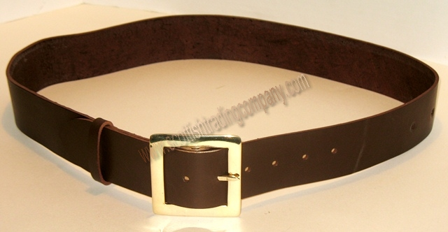 Brass Square Buckle Kilt Belt 2""