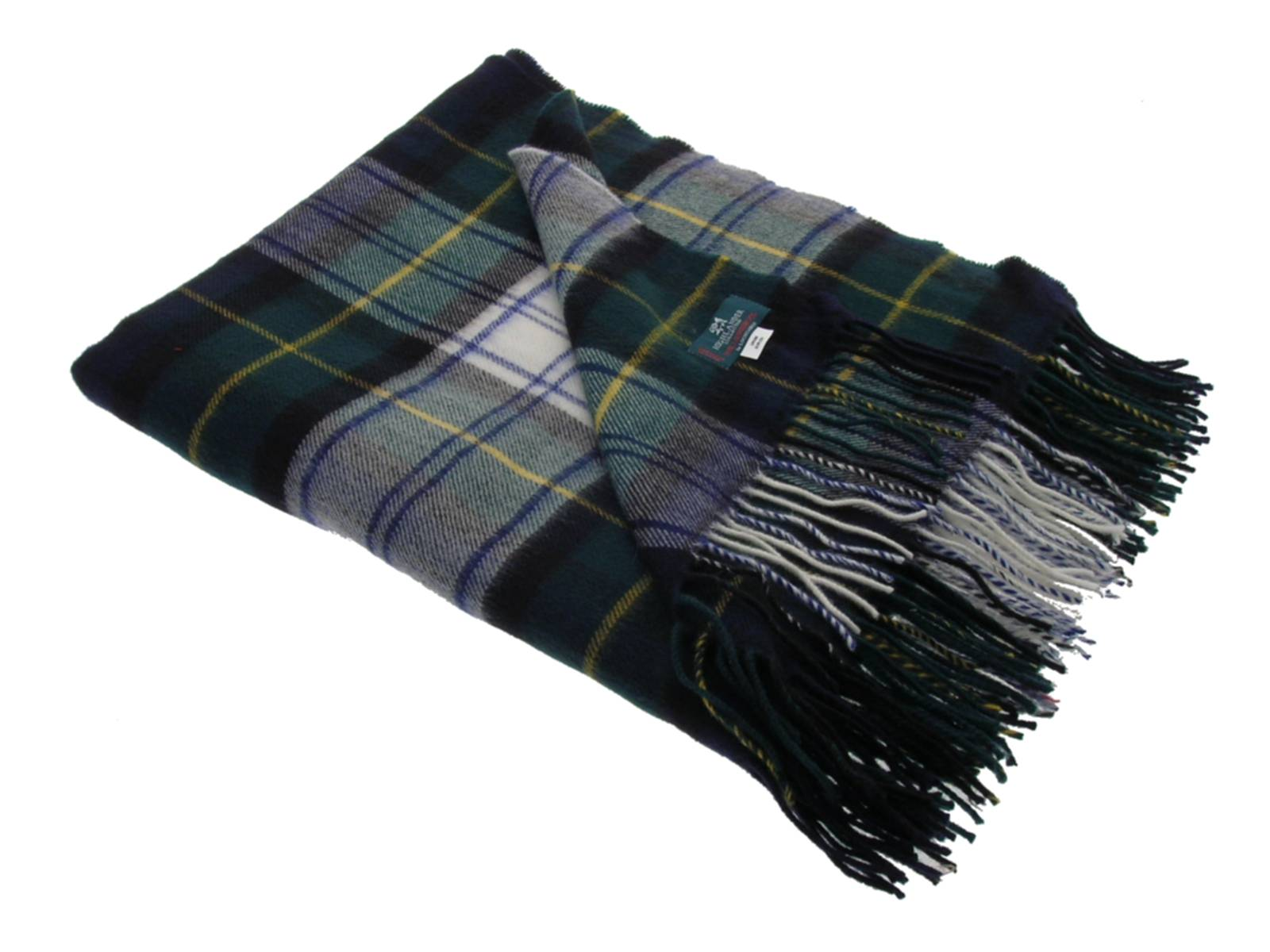 Gordon Dress Tartan Lambswool Blanket