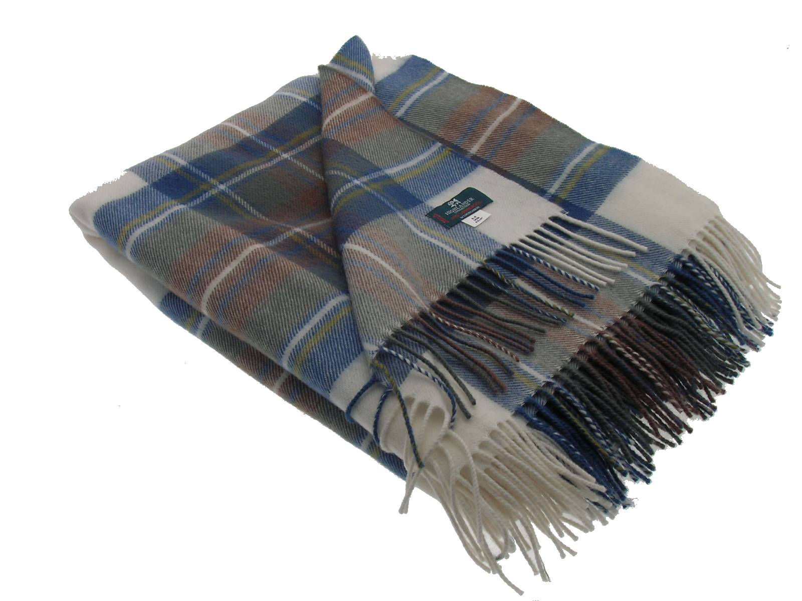 Stewart Dress Tartan Lambswool Blanket