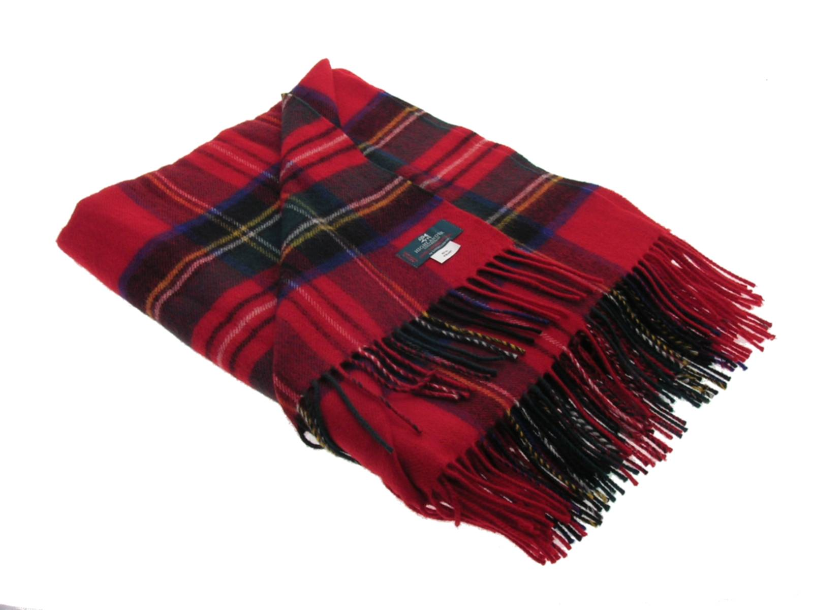 Stewart Royal Tartan Lambswool Blanket