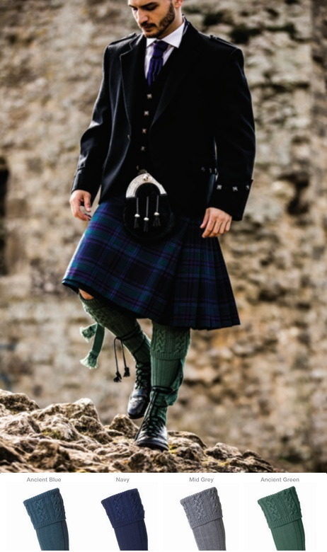 House of Cheviot Arran Kilt Hose