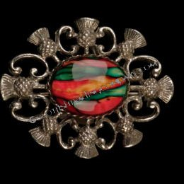 Heather Gem 8 Thistle Brooch