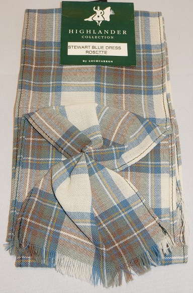 Stewart Blue Dress Tartan Mini Rosette Special