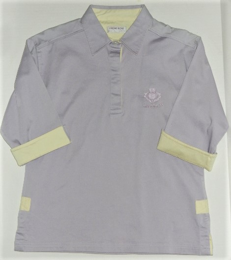 Ladies Lilac Scotland 3/4 Sleeve Rugby Shirt Large