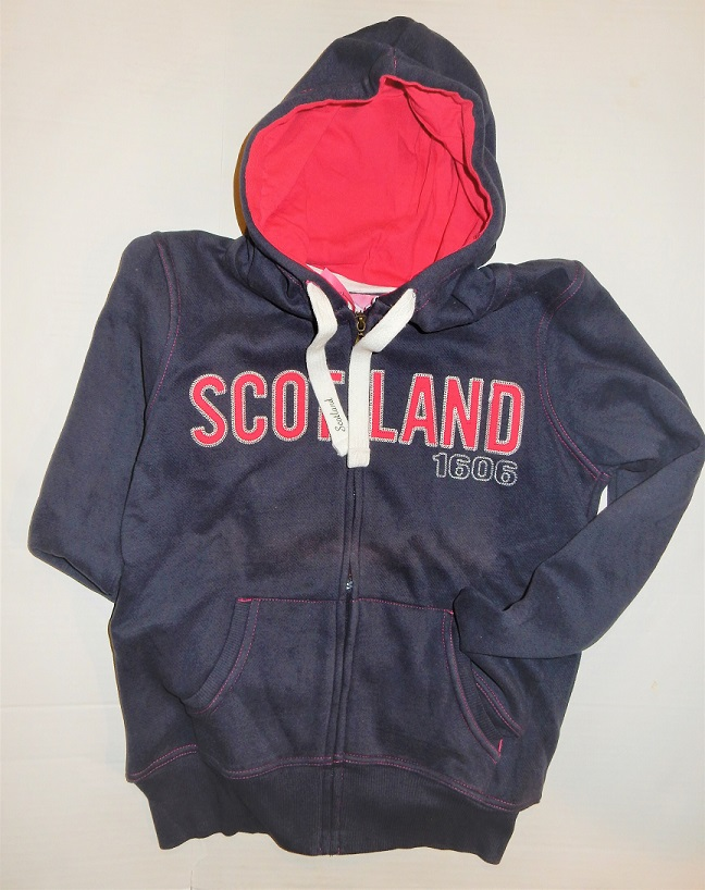 Ladies Scotland Pink and Navy Hooded Sweatshirt