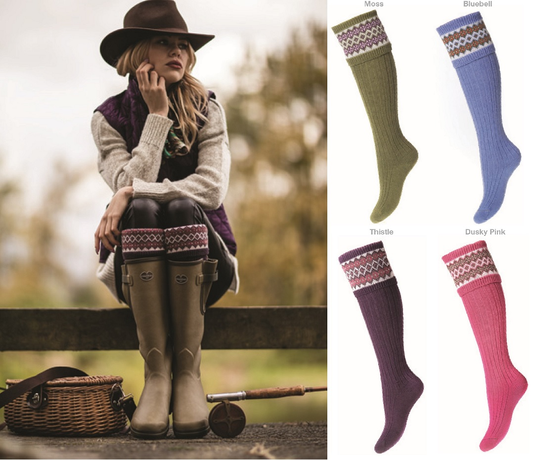 House of Cheviot Lady Fair Boot Socks
