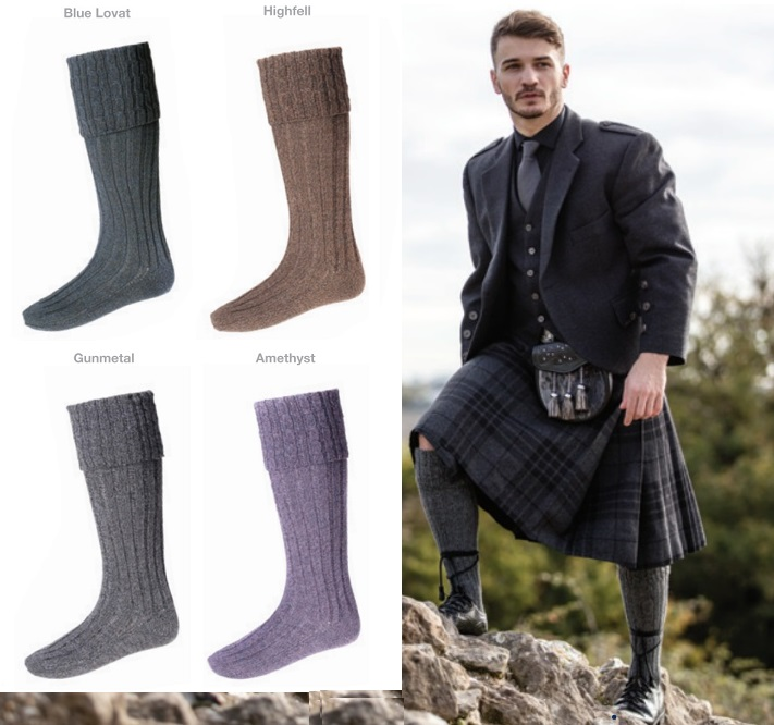 House of Cheviot Hebridean Kilt Hose for Larger Calves