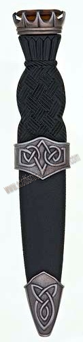 Celtic Stone Top Sgian Dubh Antique Finish