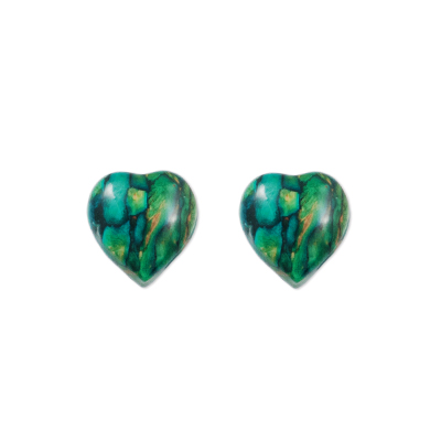 HeatherGem Heart Heather Stud Earrings