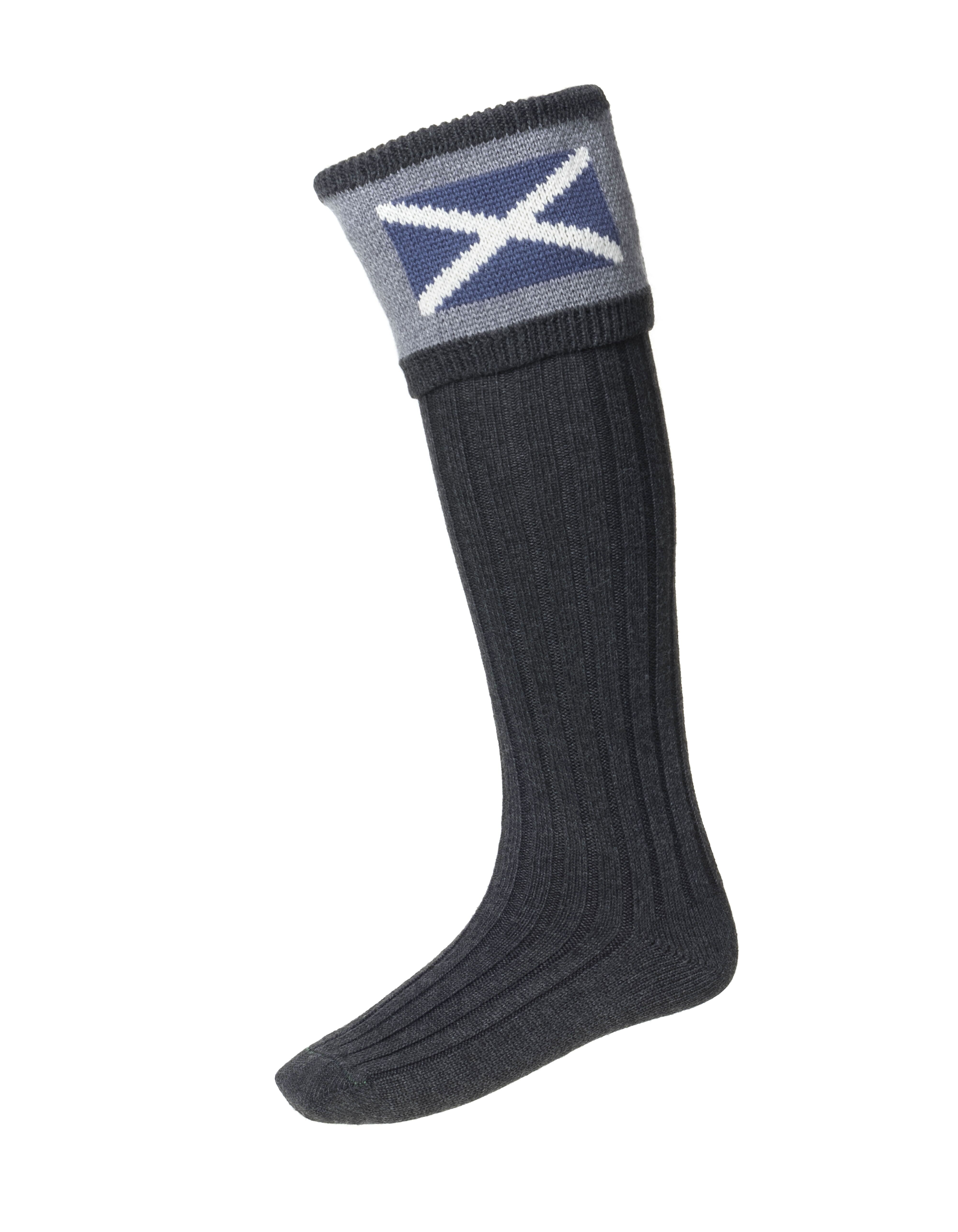 House of Cheviot Scottish Saltire Kilt Hose