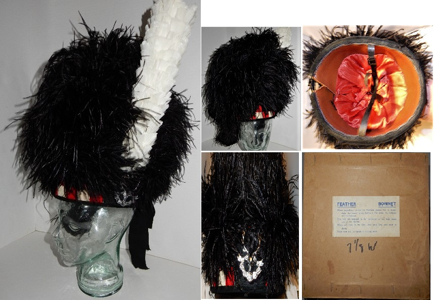 Vintage Seaforth Highlanders Feather Bonnet