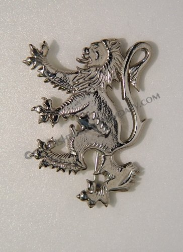 Lion Rampant Brooch Kilt Pin
