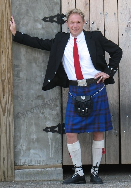 8 Yard Strome Kilt 16oz Standard Tartans by Lochcarron