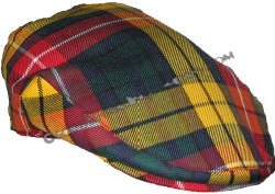 Scottish Tartan Flat Cap in Reiver Standard Tartans