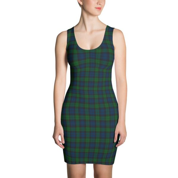 Custom Scottish Tartan Print Dress