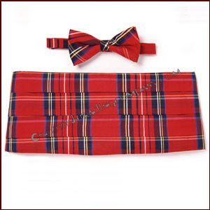 Tartan Bow tie and Cummberbund set