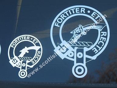 Scottish Clan Crest Badge Auto Decal