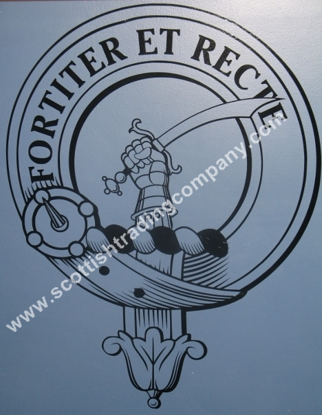 Scottish Clan Crest Badge Large Wall Art Decal